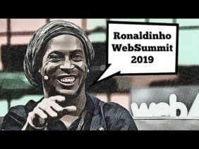 Ronaldinho EXCLUSIVE Media Interview On WebSummit 2019 | Teqball and Sqiller App | BTCTV